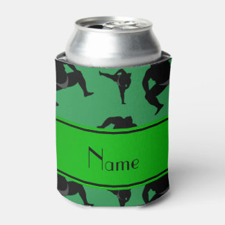 Personalized name green sumo wrestling can cooler