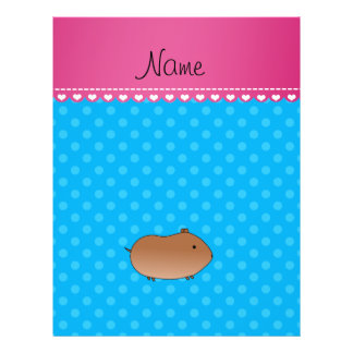 Personalized name hamster sky blue polka dots personalized flyer