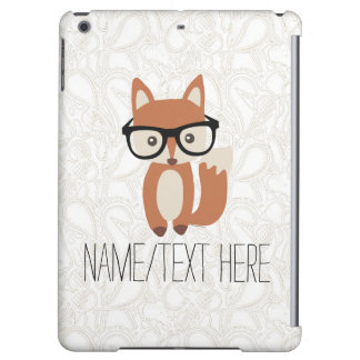 Personalized Name Hipster Baby Fox Glasses