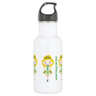 Personalized name irish dancing troupe blonde hair 532 ml water bottle