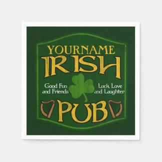 Personalized Name Irish Pub Paper Napkins Disposable Napkin