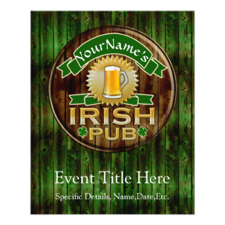 Personalized Name Irish Pub Sign St. Patrick's Day 11.5 Cm X 14 Cm Flyer
