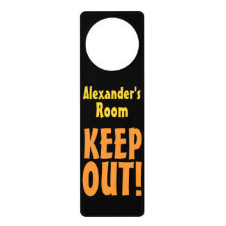 Personalized Name Keep Out Door Hanger Room Sign