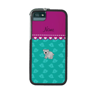 Personalized name koala bear green bells case for iPhone 5