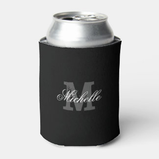 Personalized name monogram can cooler