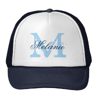 Personalized name monogram hat for wedding party