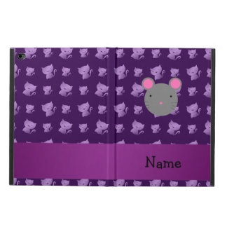 Personalized name mouse purple cats powis iPad air 2 case