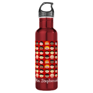 Personalized Name Multi-Cultural Children Teacher 710 Ml Water Bottle