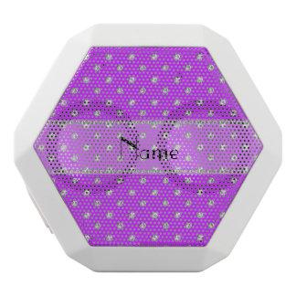 Personalized name neon purple diamonds