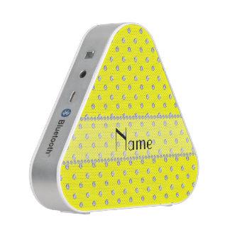 Personalized name neon yellow diamonds