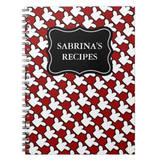 Personalized name notebook   recipe cookbook