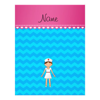 Personalized name nurse sky blue chevrons flyers