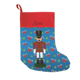 Personalized name nutcracker blue candy canes bows