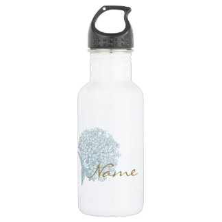 Personalized Name on Hydrangea 532 Ml Water Bottle
