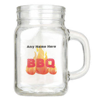 Personalized Name or Event BBQ - Mason Jar