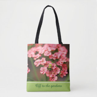 Personalized Name or Quote Garden Photography Tote Bag