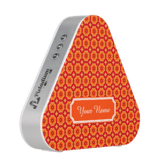 Personalized Name Orange Abstract Decorative Flora