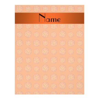 Personalized name orange basketballs custom flyer