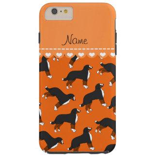 Personalized name orange Bernese Mountain dogs Tough iPhone 6 Plus Case