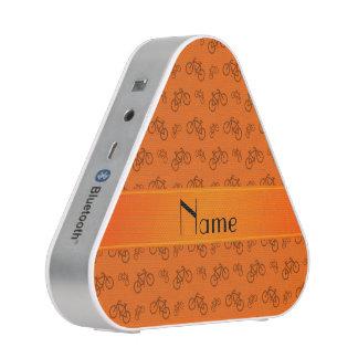 Personalized name orange bicycles speaker