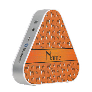 Personalized name orange boston terrier bluetooth speaker
