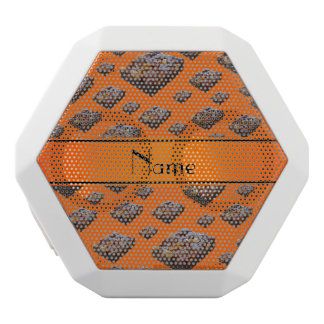 Personalized name orange brownies white boombot rex bluetooth speaker