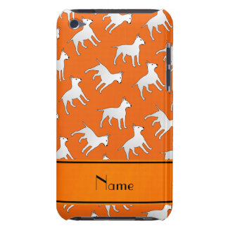 Personalized name orange bull terrier dogs barely there iPod case