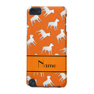 Personalized name orange bull terrier dogs iPod touch (5th generation) cases