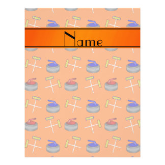 Personalized name orange curling pattern personalized flyer