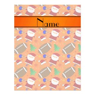 Personalized name orange football christmas flyers