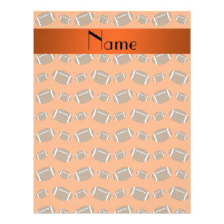Personalized name orange footballs 21.5 cm x 28 cm flyer