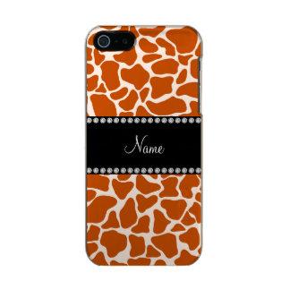 Personalized name orange giraffe pattern incipio feather® shine iPhone 5 case