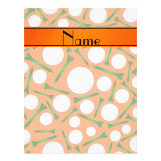 Personalized name orange golf balls tees personalized flyer