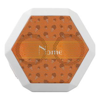 Personalized name orange ice cream pattern white boombot rex bluetooth speaker