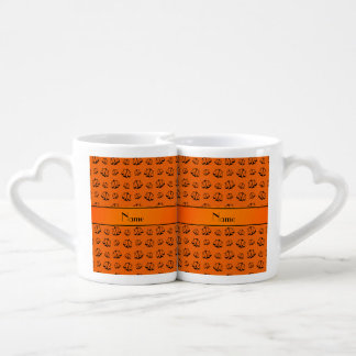 Personalized name orange justice scales lovers mug set