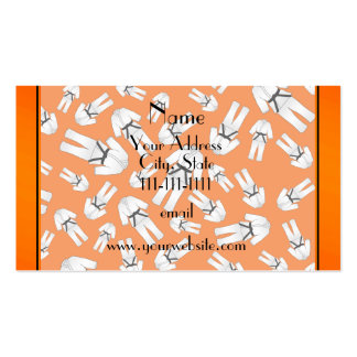 Personalized name orange karate pattern pack of standard business cards
