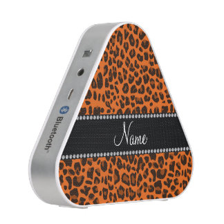 Personalized name orange leopard pattern