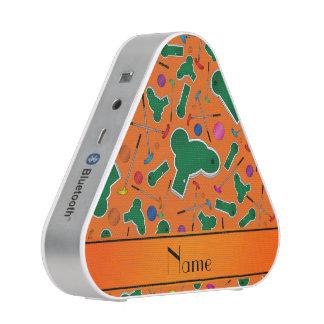 Personalized name orange mini golf