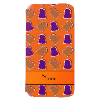 Personalized name orange peanut butter jelly incipio watson™ iPhone 6 wallet case