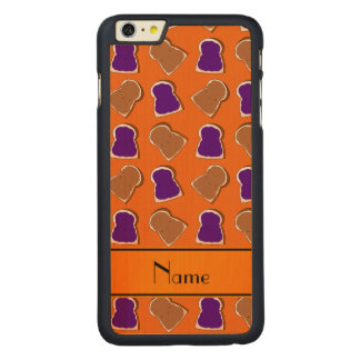 Personalized name orange peanut butter jelly carved® maple iPhone 6 plus case