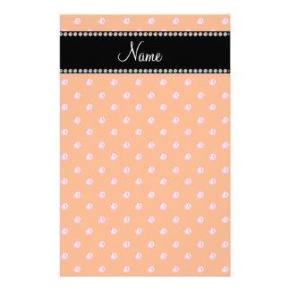 Personalized name Orange pink diamonds Personalized Stationery