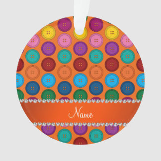 Personalized name orange rainbow buttons pattern