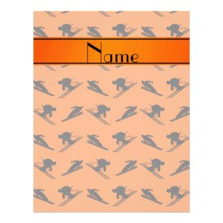 Personalized name orange ski pattern custom flyer