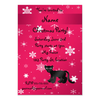 Personalized name panther pink snowflakes custom announcement
