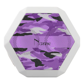 Personalized name pastel purple camouflage