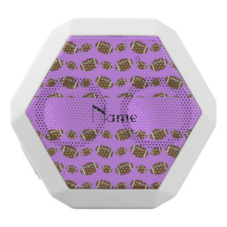 Personalized name pastel purple footballs white boombot rex bluetooth speaker