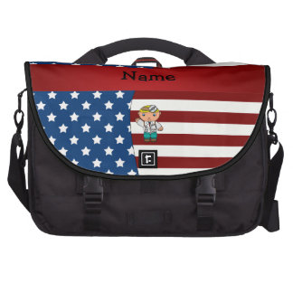 Personalized name Patriotic doctor Bags For Laptop