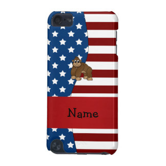 Personalized name Patriotic gorilla iPod Touch 5G Case