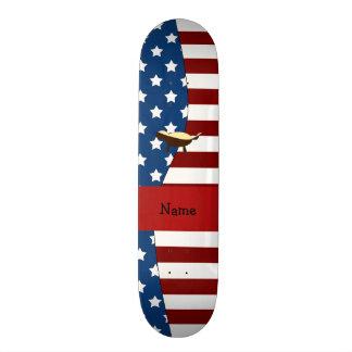 Personalized name Patriotic honey badger Skate Board