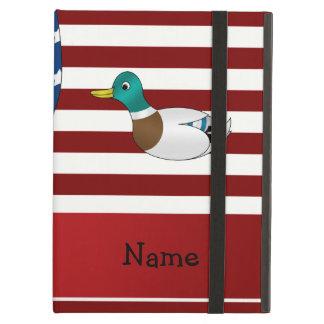 Personalized name Patriotic mallard duck iPad Case